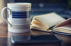 coffee and notebook 280 X 185