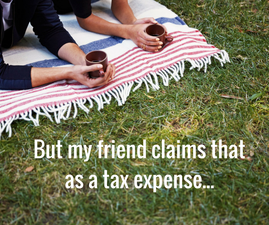 claiming a tax expense